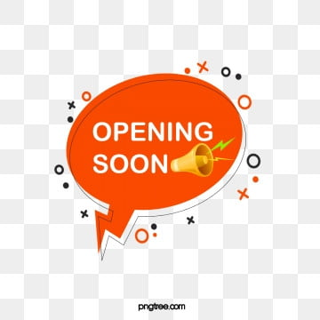 orange horn bubble label grand opening element, Geometric, Horn, Circular PNG and PSD