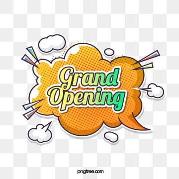 popper bubble label grand opening element, Cartoon, Label, Bubble PNG and PSD