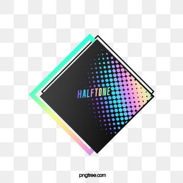rhombic halftone color gradient text box, Commercial, Colourful, Color PNG and PSD