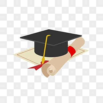 simple graduation bachelors hat certificate elements, Magnificent, Bachelor Cap, Fashion PNG and PSD