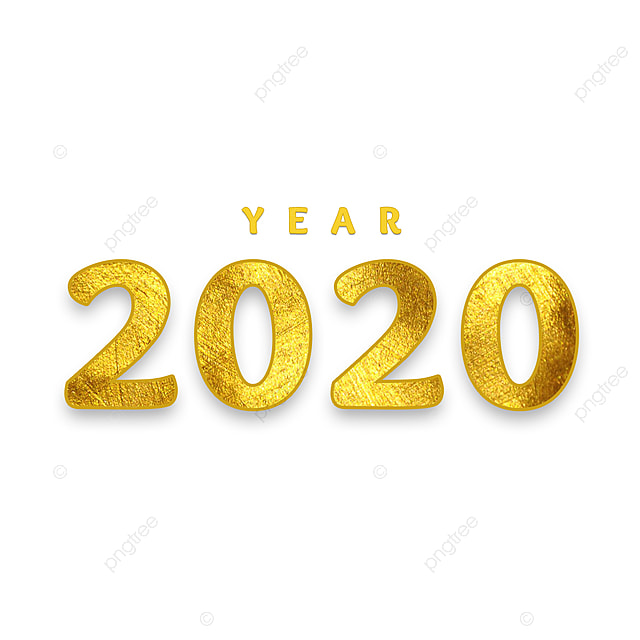 Elegant Logo Mockup Psd: Year 2020 Gold Elegant Text Effect PSD For Free Download