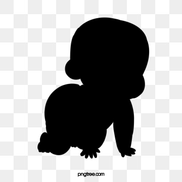 silhouette of baby reptile, Element, Silhouette, Action PNG and PSD
