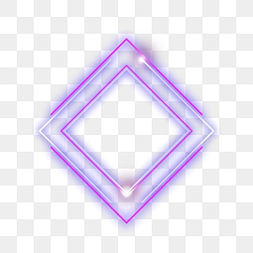 diamond multilayer neon effective geometric border, Luminous Efficiency, Geometric, Creative PNG and PSD