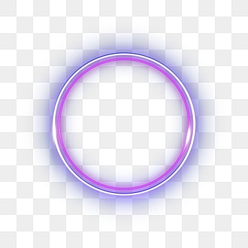 Double layer circular neon effect geometric border, Light, Luminous Efficiency, Geometric PNG and PSD