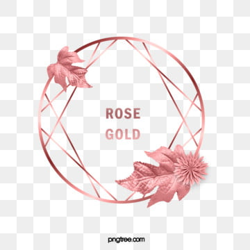elegant deluxe rose gold geometry chrysanthemum leaf frame, , Grace, Geometric PNG and PSD