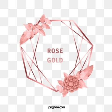 elegant deluxe rose gold geometry lotus leaf frame, Geometric, Commercial, Leaf PNG and PSD