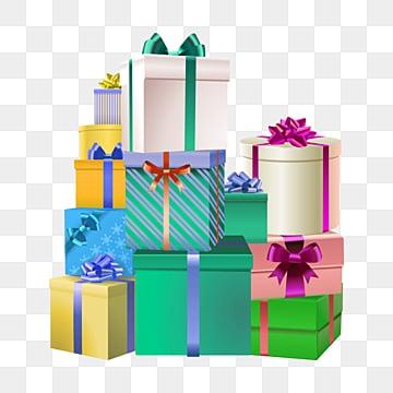 Dessins animés dessinés à la main de laccumulation de boîte   cadeau, Des Paquets De Cadeaux, Boîte En Couleurs, Cadeau D 'anniversaire png et psd