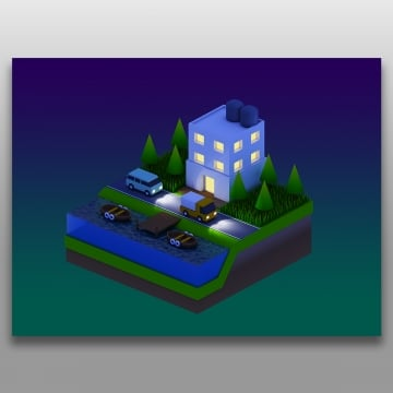 isometric city buildings, Isometric, Illustration, Design PNG and Vector