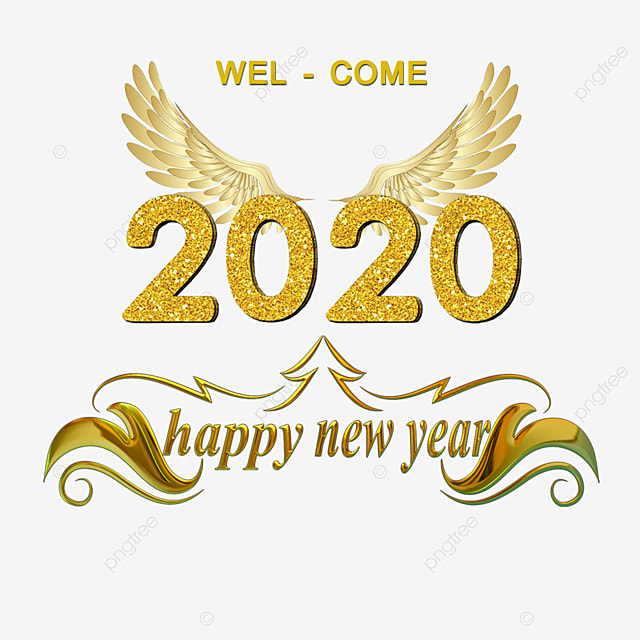 2020 Happy New Year Font Style Png File Text Effect Psd For