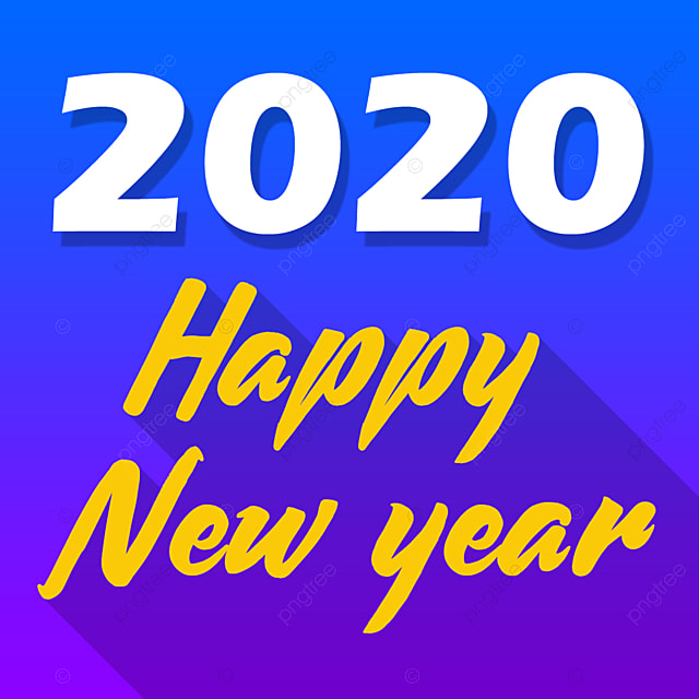 Happy New Year 2020 Gradient Png And Psd File Free download