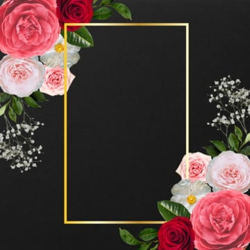 beautiful floral frame, Rose, Frame, Blooming PNG and PSD