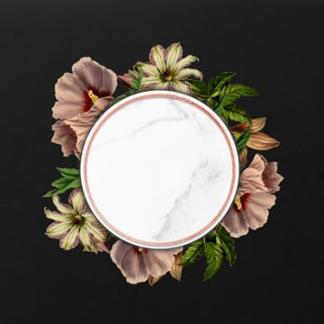 beautiful floral frame, Frame, Blooming, Blue PNG and PSD