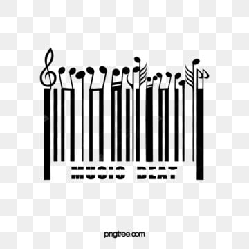 black and white note creative bar code, Sheet Music, Creative, Bar Code PNG and PSD