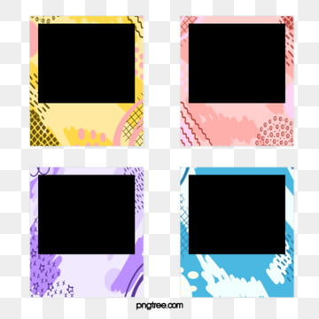 cartoon graffiti frame photo paper elements, Cartoon, Polaroid, Hand Painted PNG and PSD