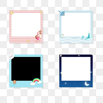 Cartoon Photo Paper Frame, Cartoon, Lovely, Photo Frame PNG and PSD