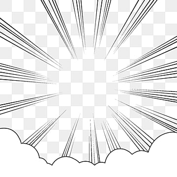 Cartoon Speed Line Cloud Border, Cloud Decoration, Cartoon, Comic Clouds PNG and PSD