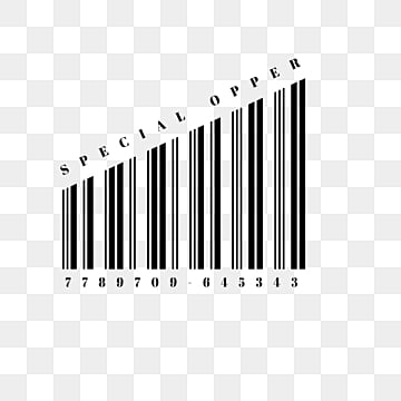 creative black and white barcode, Element, Creative, Scanning PNG and PSD