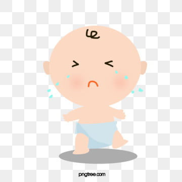 crying little boy babies wear diaper cartoon elements, Cartoon, Cry, Weep PNG and PSD