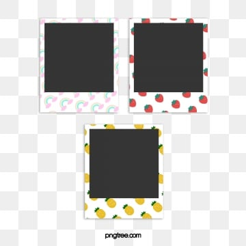 cute cartoon border photo paper, Cartoon, Lovely, Polaroid PNG and PSD