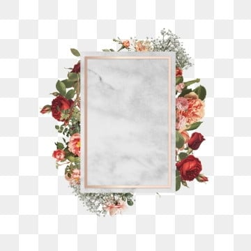 elegant floral frame, Rose, Frame, Blooming PNG and PSD