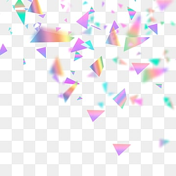 fashion holographic triangular scrap elements, Triangle, Element, Holographic PNG and PSD