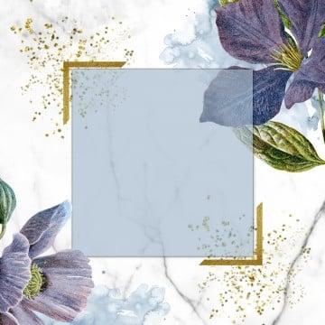 floral frame design, Floral Frame, Glitter, Marble PNG and PSD