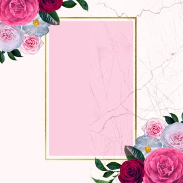 floral frame design, Frame, Blooming, Border PNG and PSD