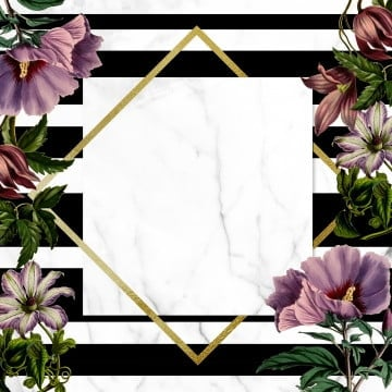 floral frame on stripped background, Floral Frame, Lines, Rose PNG and PSD
