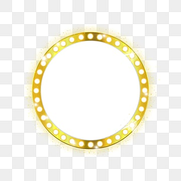 Golden light circular lamp, Golden, Golden Light, Circular Lamp Board PNG and PSD
