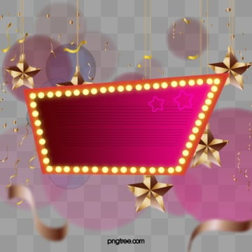 Gradient Star Light Banner, Luminescence, Coloured Ribbon, Stars PNG and PSD