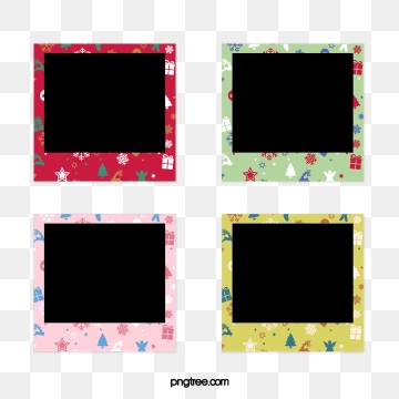 Hand painted cartoon Christmas element Polaroid paper border, Cartoon, Lovely, Christmas PNG and PSD