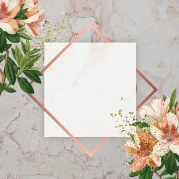 floral frame, Glitter, Marble, Frame PNG and PSD