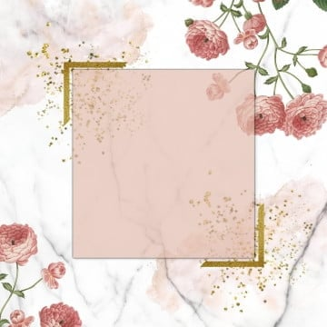 pink floral  on marble, Floral, Golden, Vintage Floral PNG and PSD