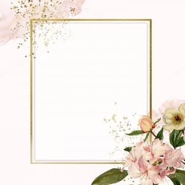 pinky floral frame, Frame, Floral Frame, Golden PNG and PSD