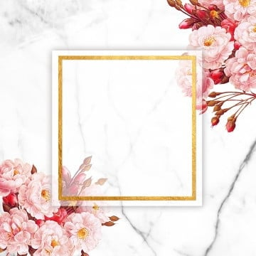romantic floral frame, Frame, Golden Frame, Pink Roses PNG and PSD
