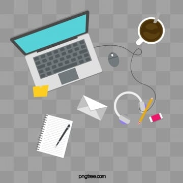 simple fashion programmer office desktop file computer, Working, Coffee, Stationery PNG and PSD