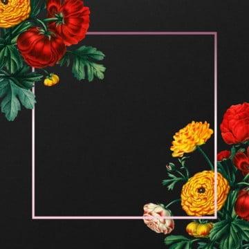 vintage floral frame design, Vintage, Floral Frame, ROSE PNG and PSD
