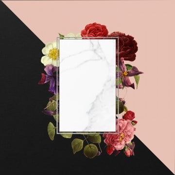 vintage floral frame, Vintage Floral Frame, Floral Frame, Rose PNG and PSD