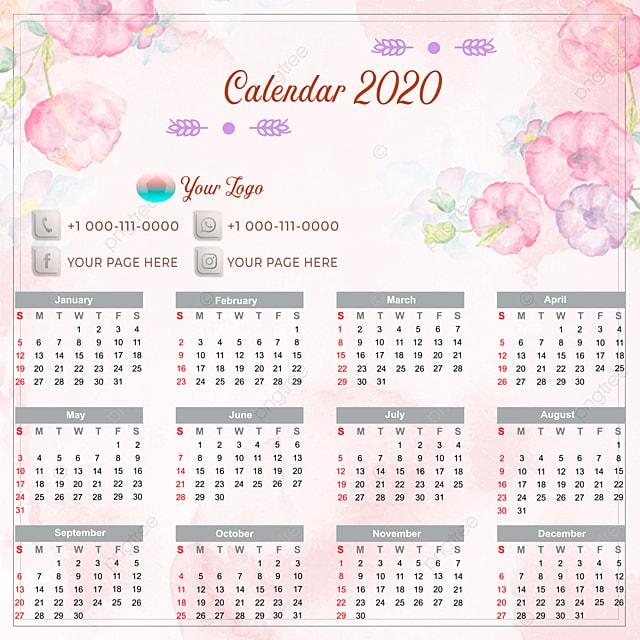 calendar 2020 flower shop 2020 calendar template for free