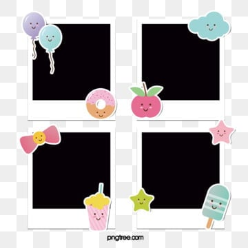 polaroid cute paper sticker decorative photographic paper, Popsicle, Cartoon, Polaroid PNG and PSD