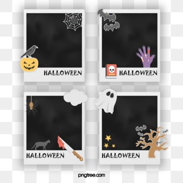 Halloween Cartoon Decoration Element Polaroid Paper, Halloween, Element, Cartoon PNG and PSD
