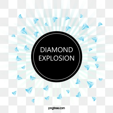 hand painted blue diamond explosion splash elements, Element, Flat, Hand Painted PNG and PSD