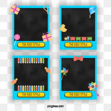 polaroid childrens lovely style decorative element photo paper, Element, Cartoon, Lovely PNG and PSD