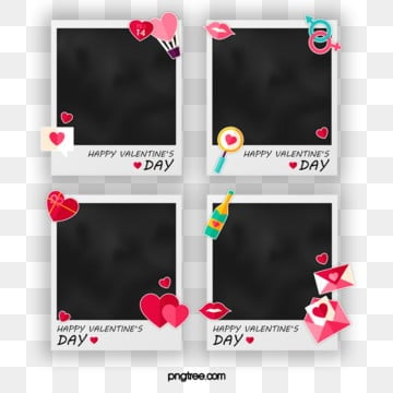 Polaroid Cute Style Decorative Photo Paper with Small Elements, Element, Cartoon, Lovely PNG and PSD