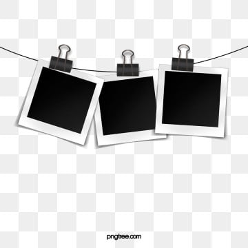 polaroid paper hanging line element, Clip, Polaroid, Polaroid PNG and PSD