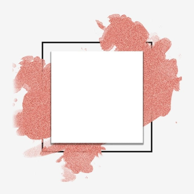 Logo Mockup Design For Business: Watercolor Rose Gold Frame Abstract Style, Gold, Rose Gold
