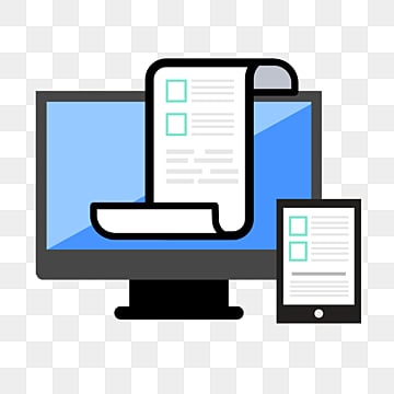 blue display test document cartoon computer screen icon, Cartoon, Icon, Screen PNG and PSD