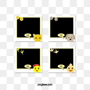 Cartoon Polaroid Animal Element Decorative Paper, Animal Elements, Cartoon, Lovely PNG and PSD