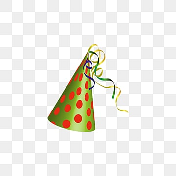Celebrating Green Red Point Clowns fringed hat, Gloss, Dot, Clown Hat PNG and PSD