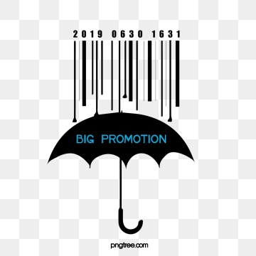 creative bar code elements for rain umbrella, Creative, Silhouette, Bar Code PNG and PSD